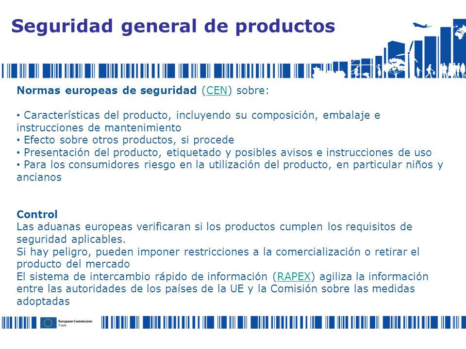 Seguridad general de productos