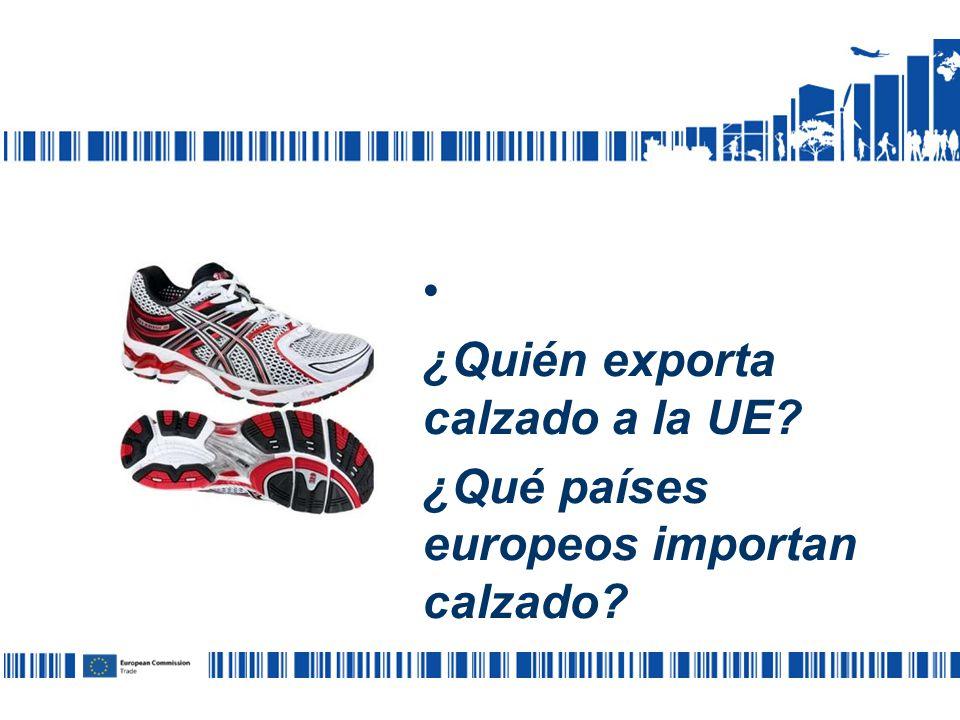 ¿Quién exporta calzado a la UE ¿Qué países europeos importan calzado