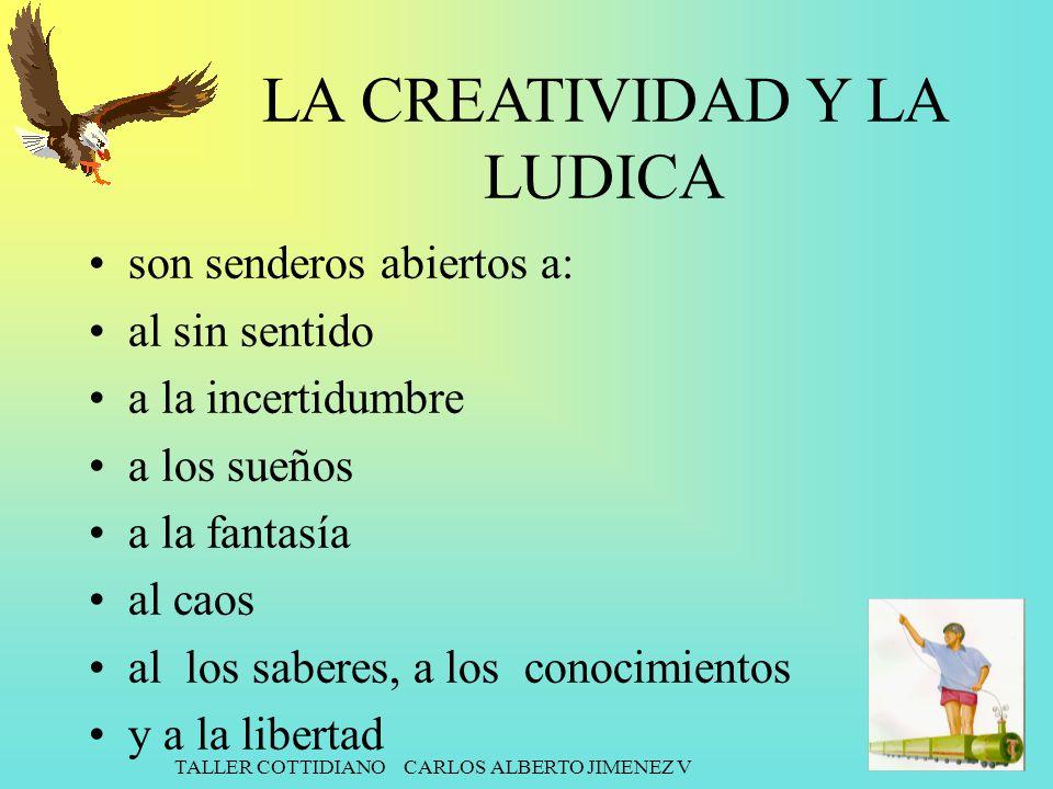 LA CREATIVIDAD Y LA LUDICA