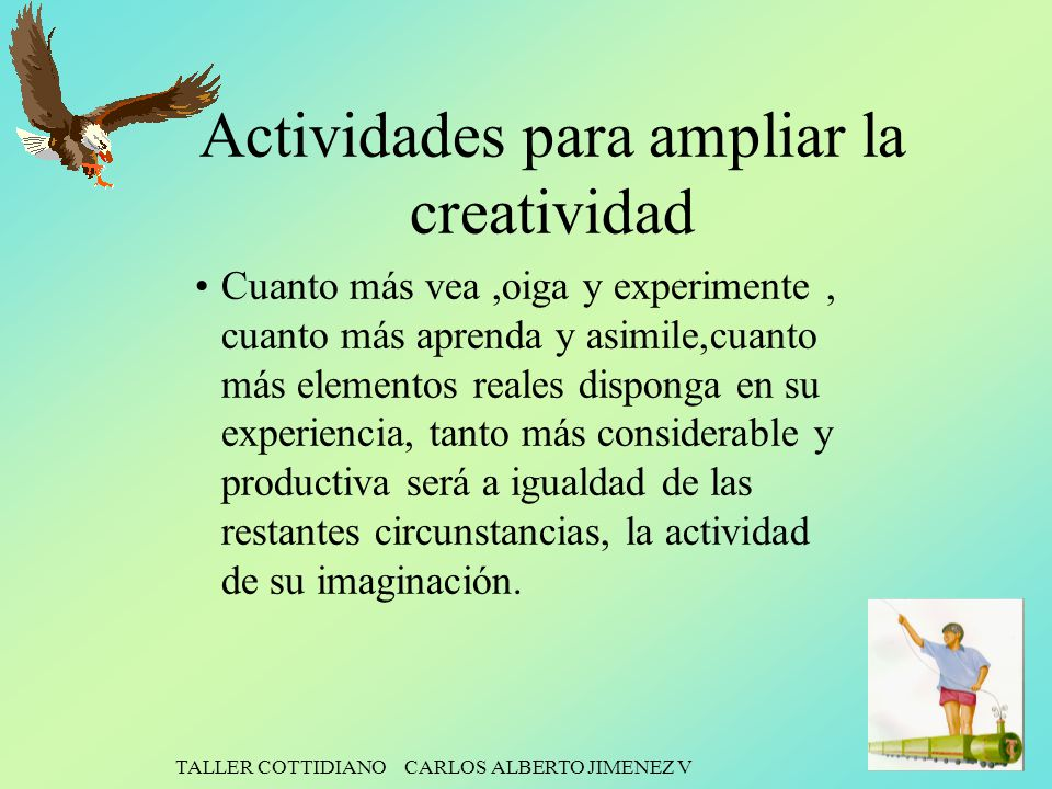 Actividades para ampliar la creatividad