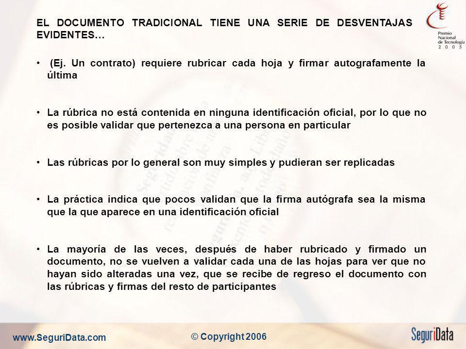 EL DOCUMENTO TRADICIONAL TIENE UNA SERIE DE DESVENTAJAS EVIDENTES…