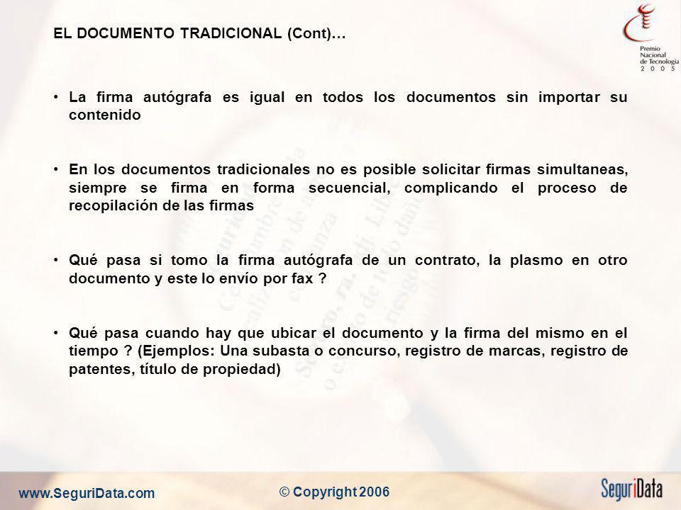 EL DOCUMENTO TRADICIONAL (Cont)…
