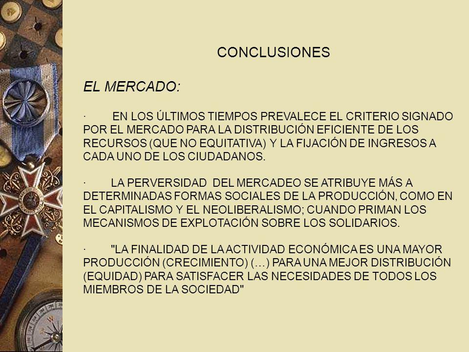 CONCLUSIONES EL MERCADO: