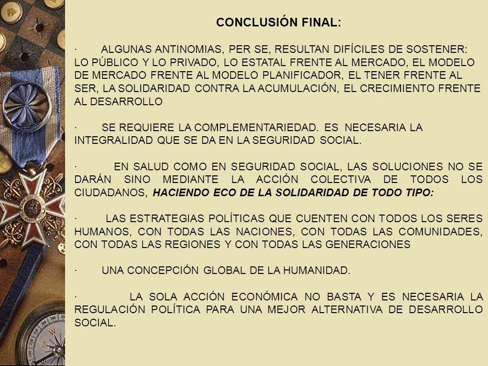 CONCLUSIÓN FINAL: