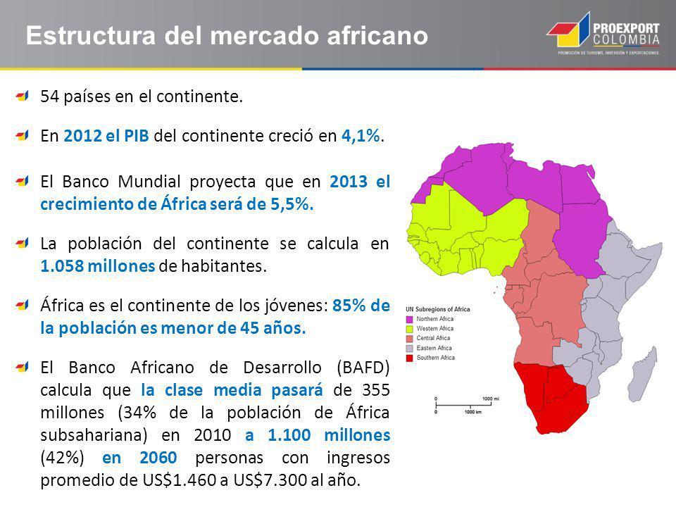 Estructura del mercado africano