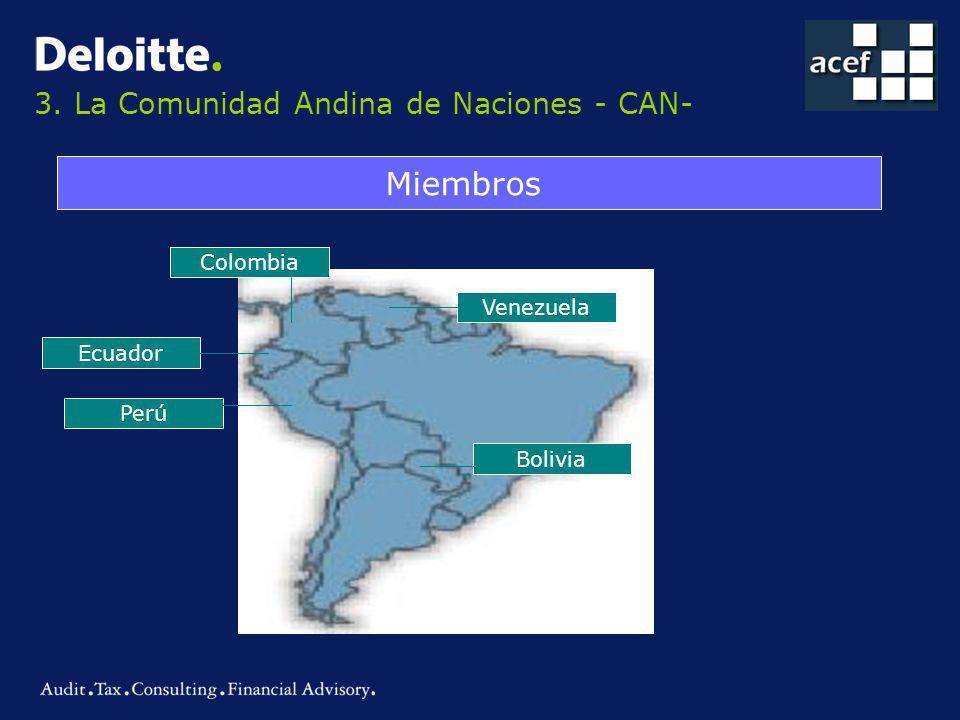3. La Comunidad Andina de Naciones - CAN-