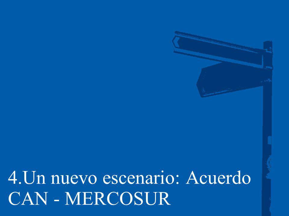 4.Un nuevo escenario: Acuerdo CAN - MERCOSUR
