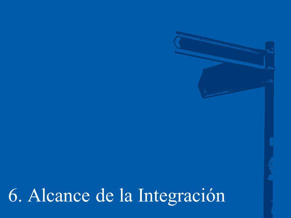 6. Alcance de la Integración