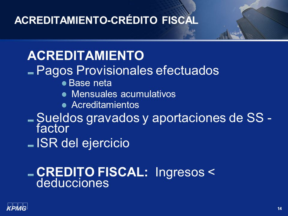 ACREDITAMIENTO-CRÉDITO FISCAL