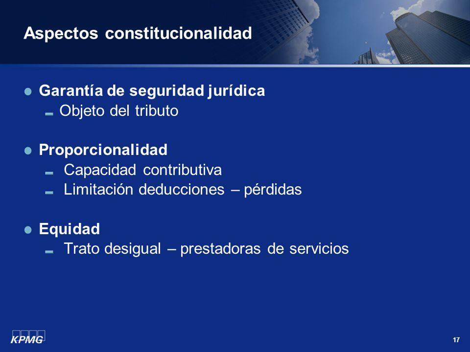 Aspectos constitucionalidad