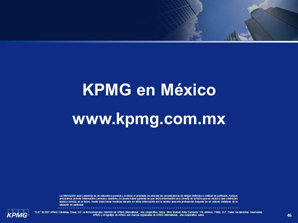 KPMG en México www.kpmg.com.mx