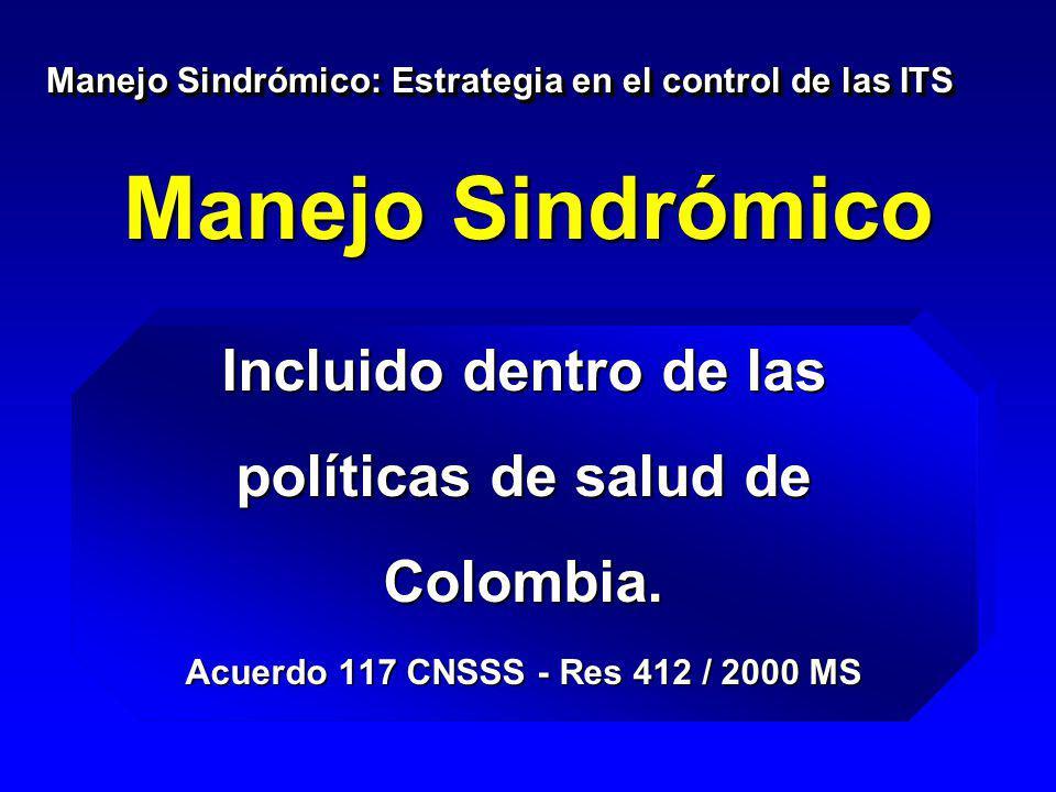 Incluido dentro de las políticas de salud de Colombia.