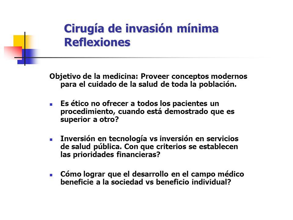 Cirugía de invasión mínima Reflexiones
