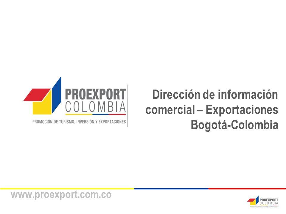 Dirección de información comercial – Exportaciones Bogotá-Colombia