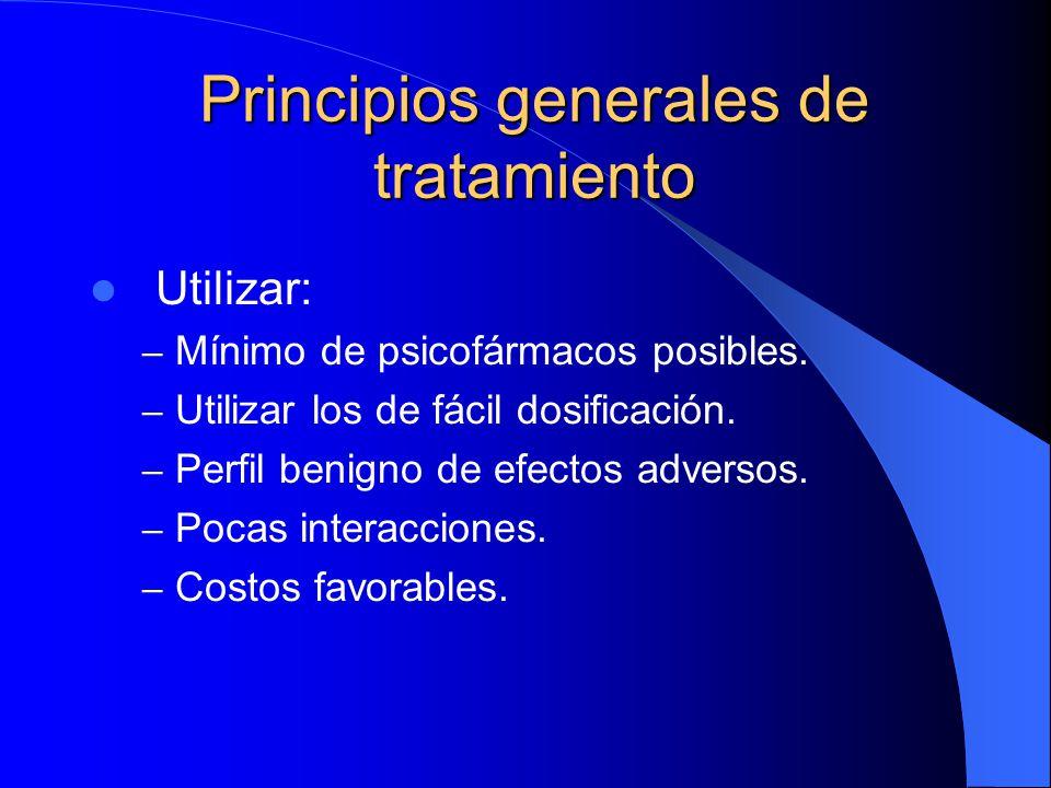 Principios generales de tratamiento