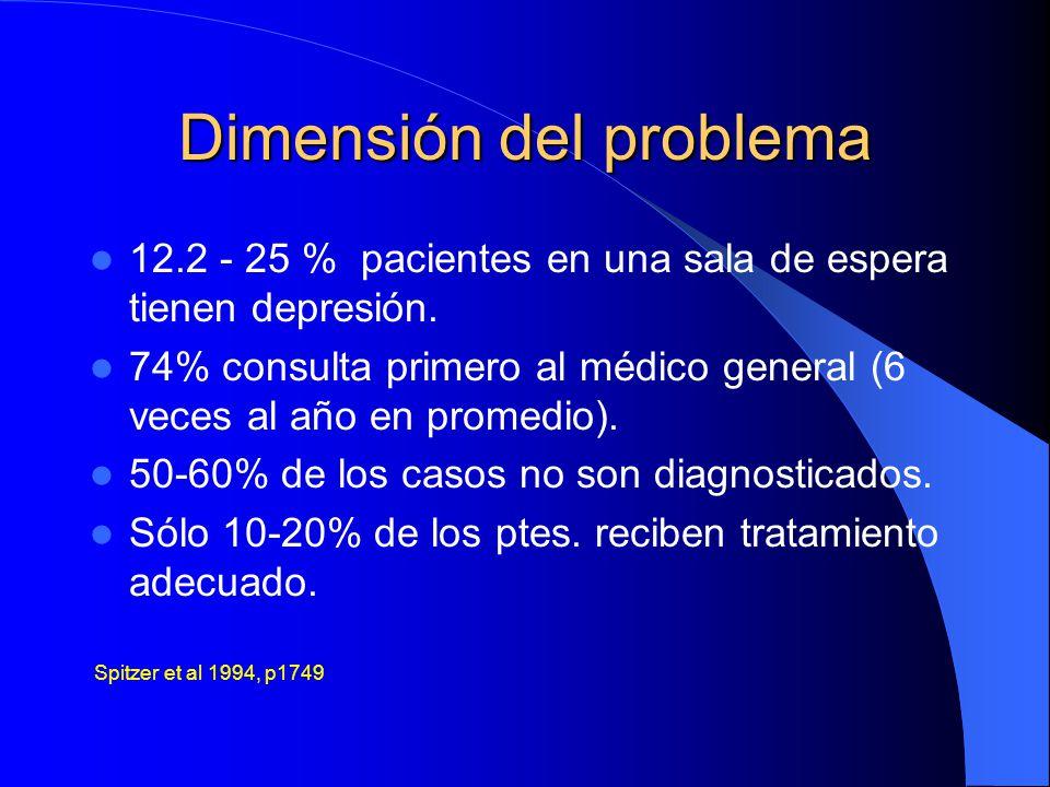 Dimensión del problema