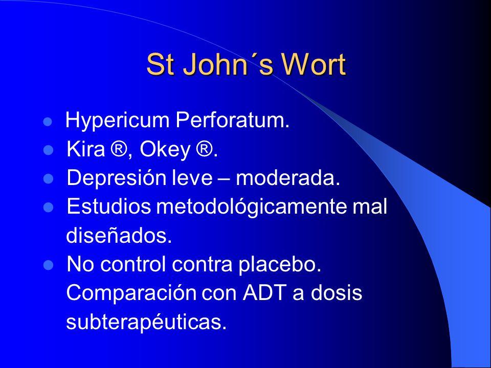 St John´s Wort Kira ®, Okey ®. Depresión leve – moderada.