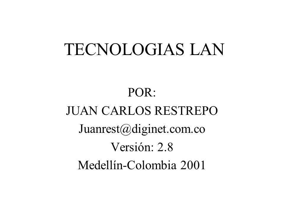 TECNOLOGIAS LAN POR: JUAN CARLOS RESTREPO Juanrest@diginet.com.co