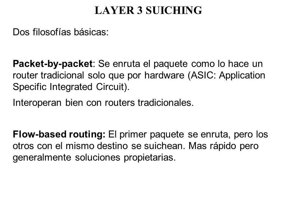 LAYER 3 SUICHING Dos filosofías básicas: