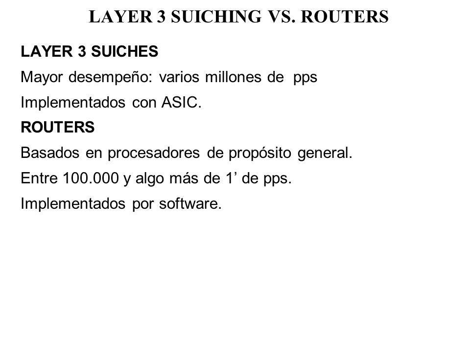 LAYER 3 SUICHING VS. ROUTERS