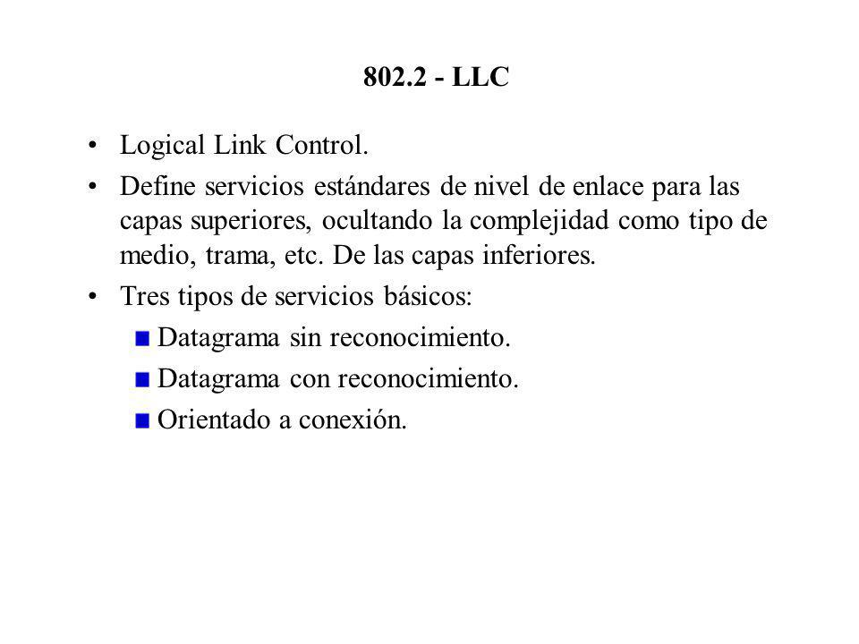 802.2 - LLC Logical Link Control.