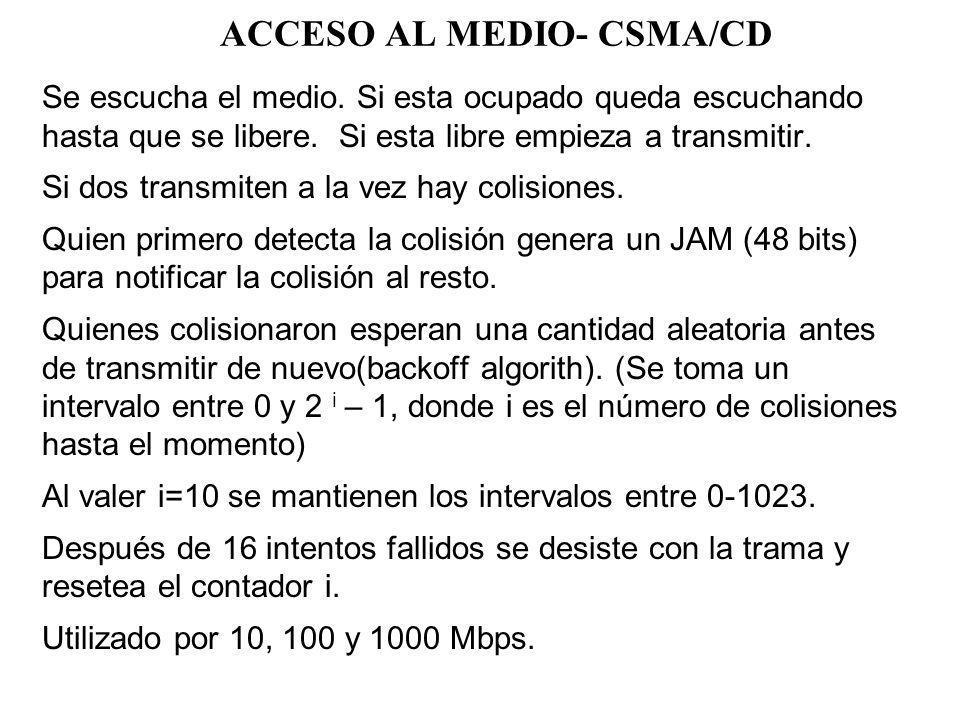 ACCESO AL MEDIO- CSMA/CD