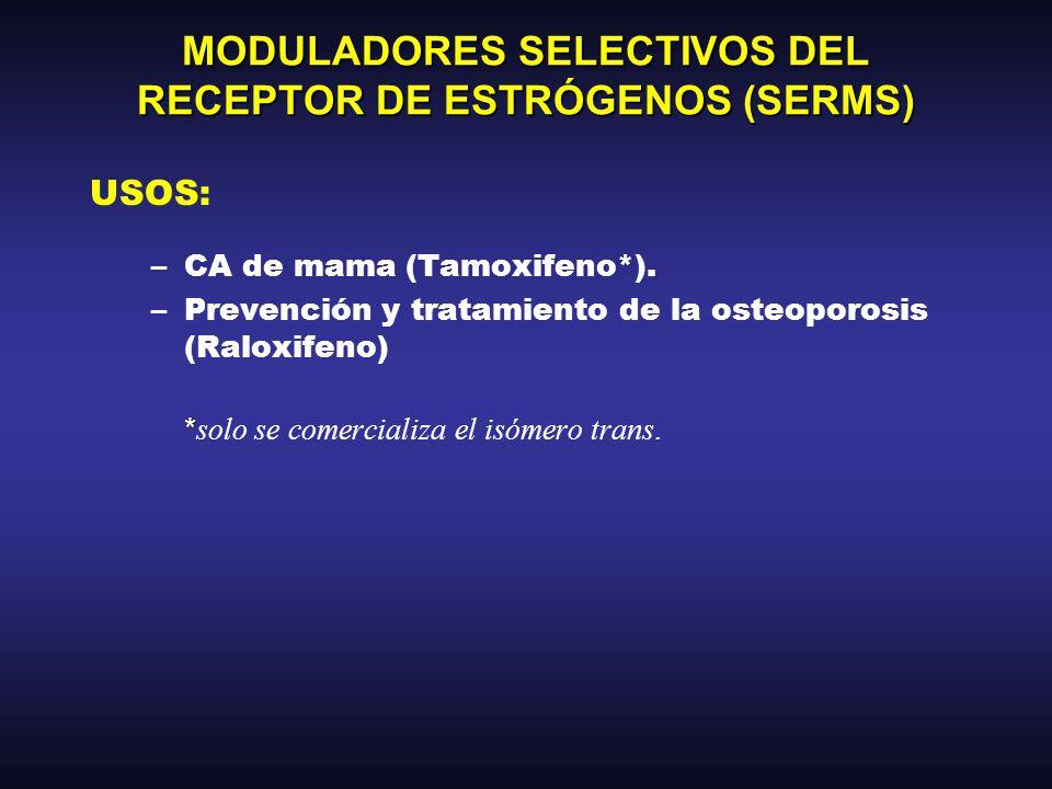 MODULADORES SELECTIVOS DEL RECEPTOR DE ESTRÓGENOS (SERMS)