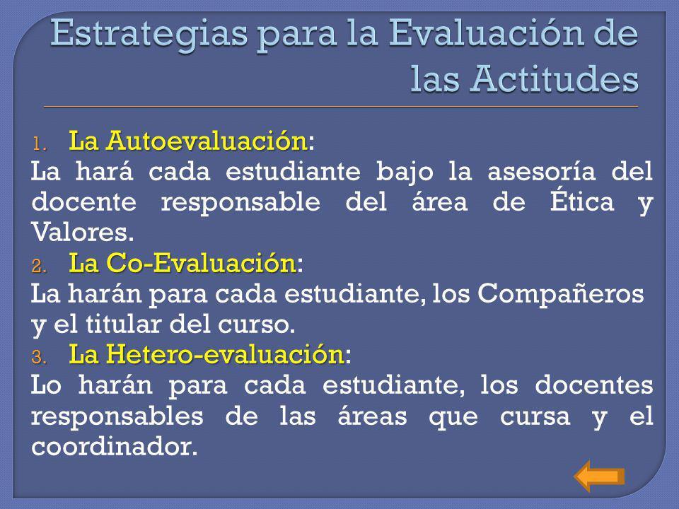 Estrategias para la Evaluación de las Actitudes