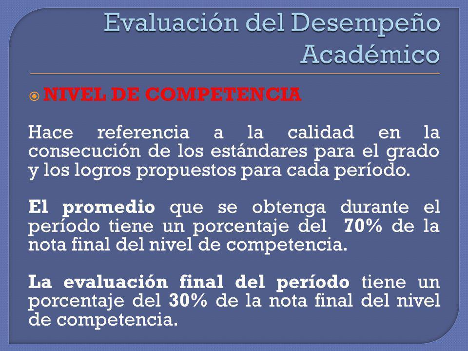 Evaluación del Desempeño Académico