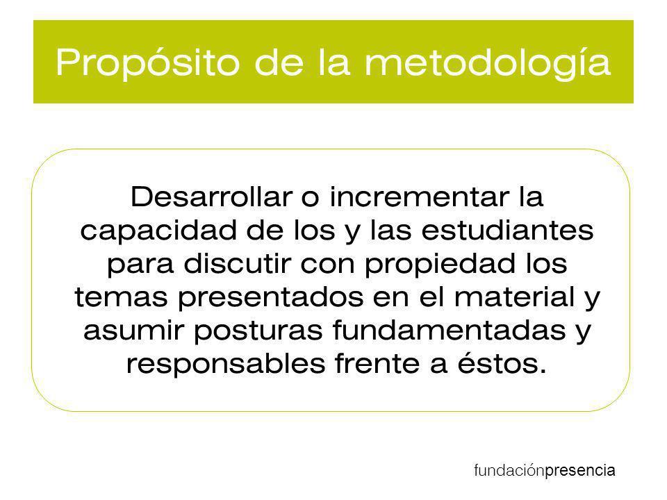 Propósito de la metodología