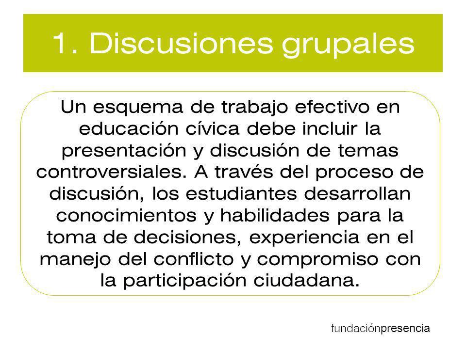 1. Discusiones grupales