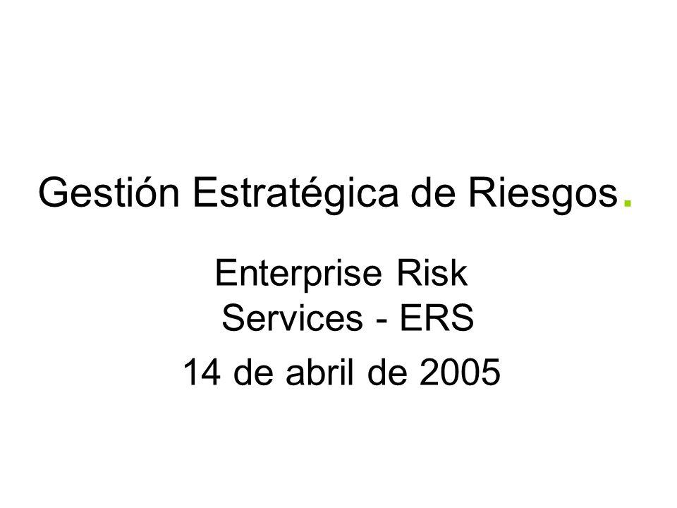 Gestión Estratégica de Riesgos.