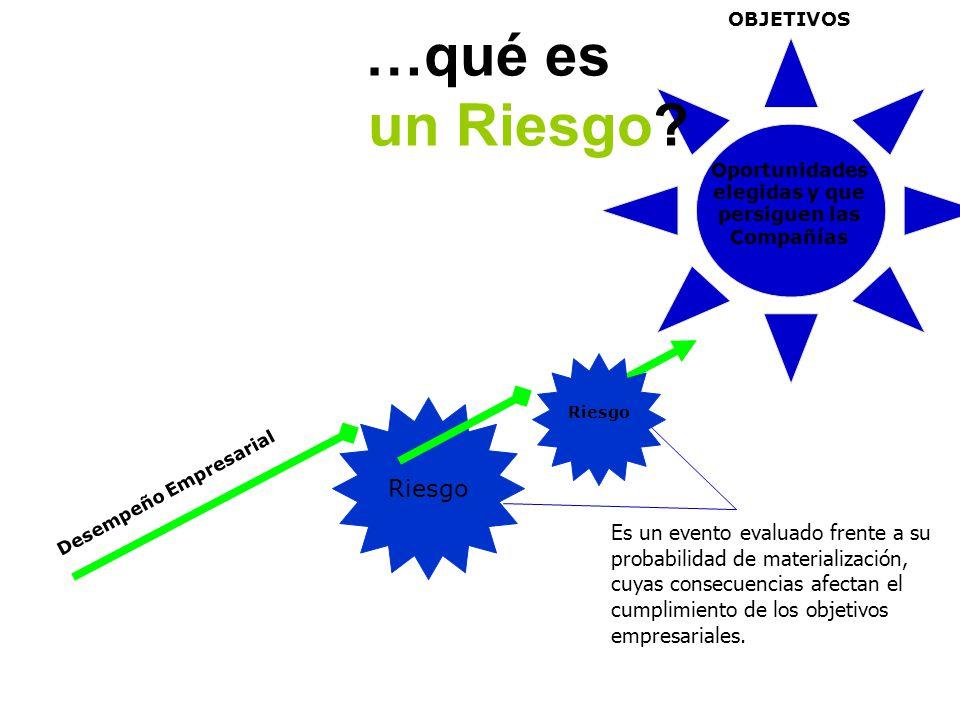 …qué es un Riesgo Desempeño Empresarial Riesgo Riesgo
