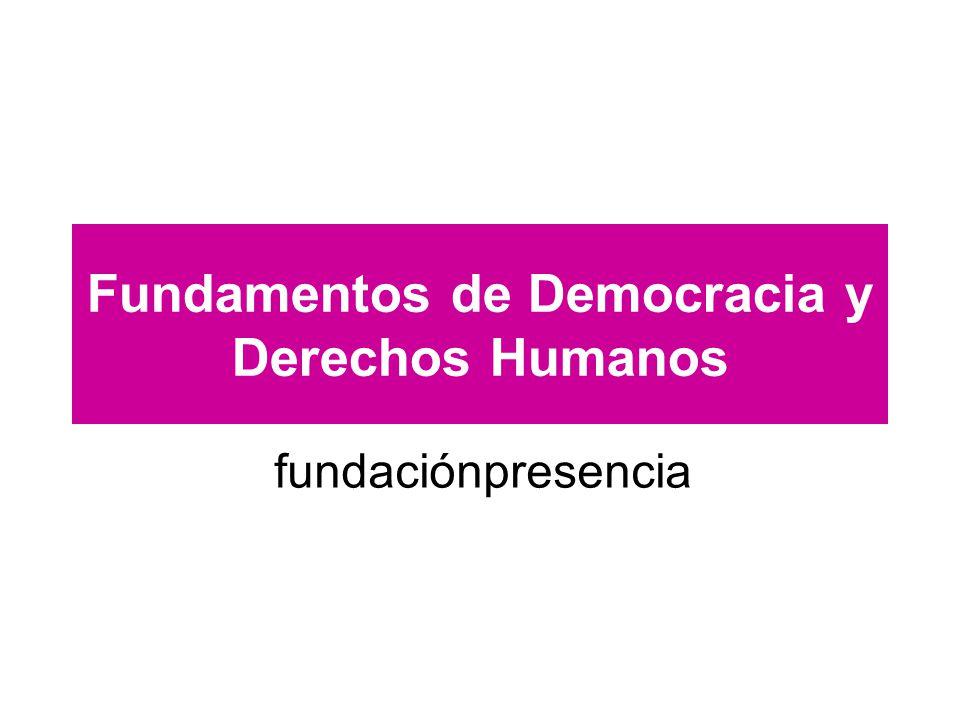 Fundamentos de Democracia y Derechos Humanos