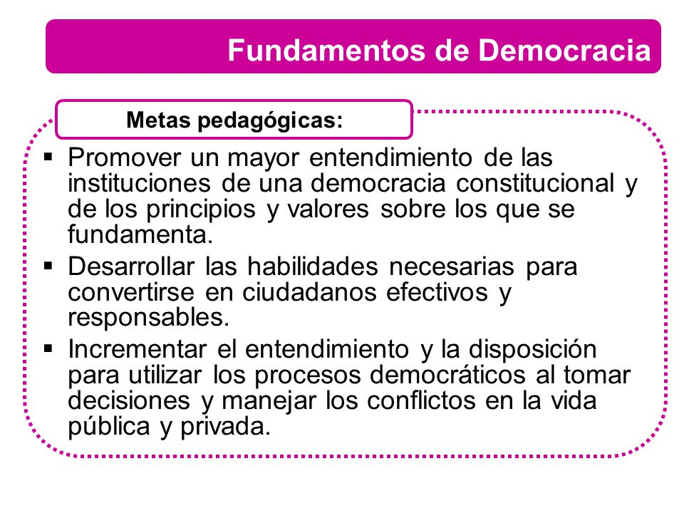 Fundamentos de Democracia