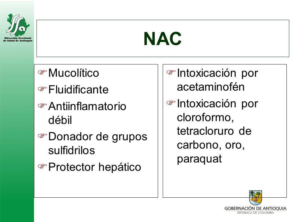 NAC Mucolítico Fluidificante Antiinflamatorio débil