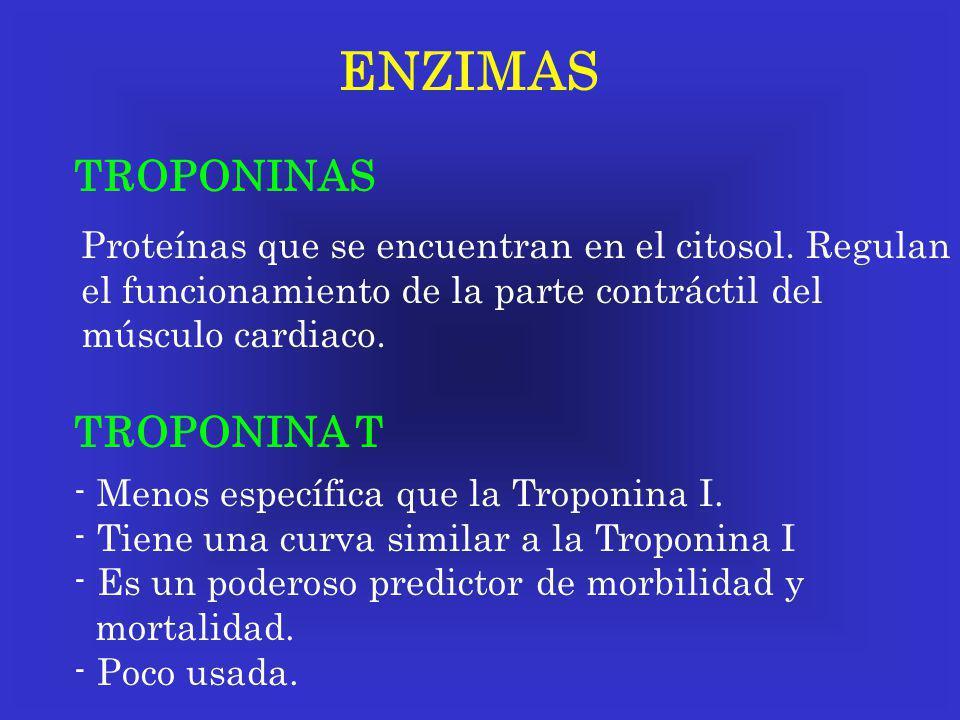 ENZIMAS TROPONINAS TROPONINA T