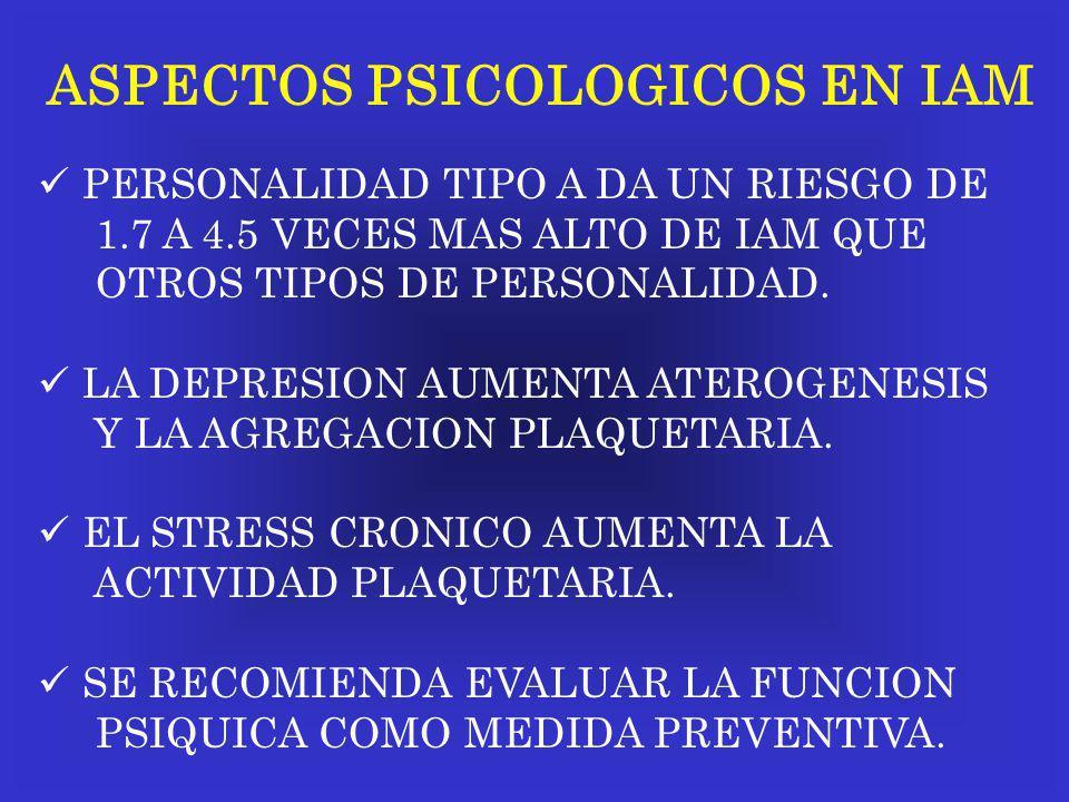 ASPECTOS PSICOLOGICOS EN IAM