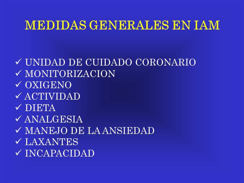 MEDIDAS GENERALES EN IAM