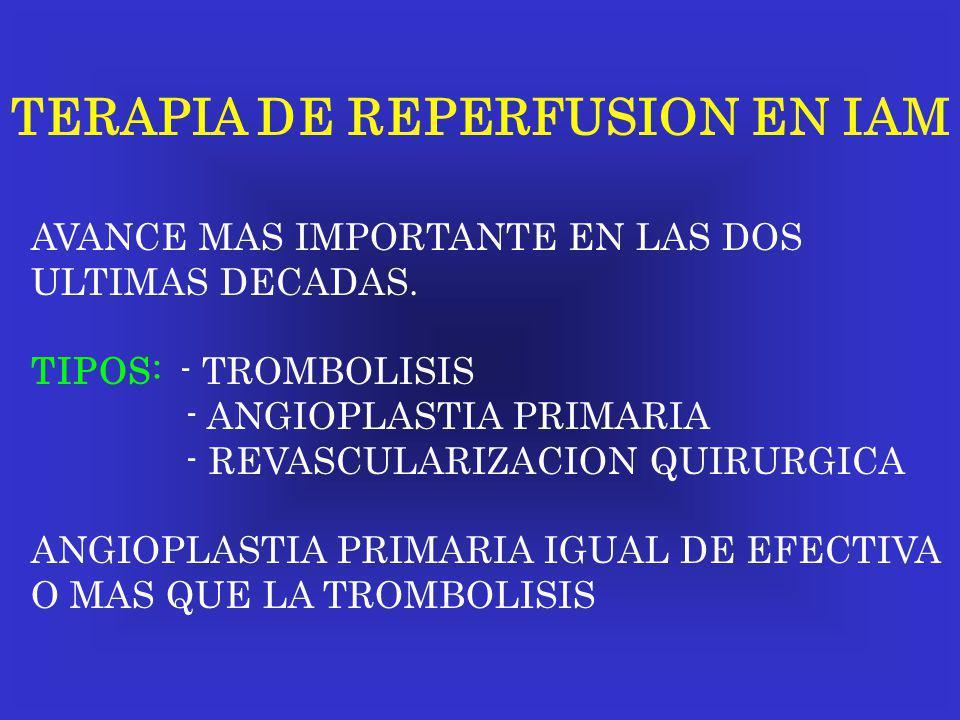 TERAPIA DE REPERFUSION EN IAM