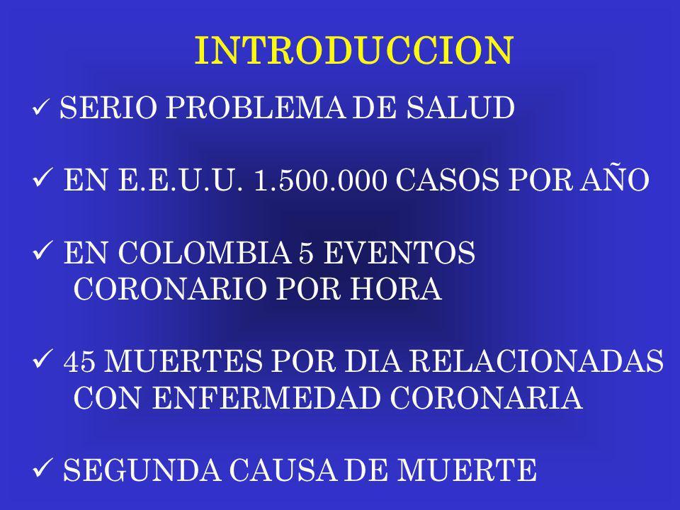 INTRODUCCION EN E.E.U.U. 1.500.000 CASOS POR AÑO EN COLOMBIA 5 EVENTOS