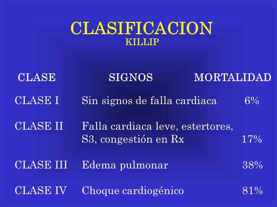 CLASIFICACION CLASE SIGNOS MORTALIDAD