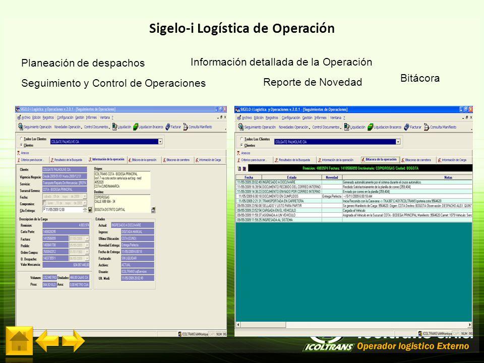 Sigelo-i Logística de Operación