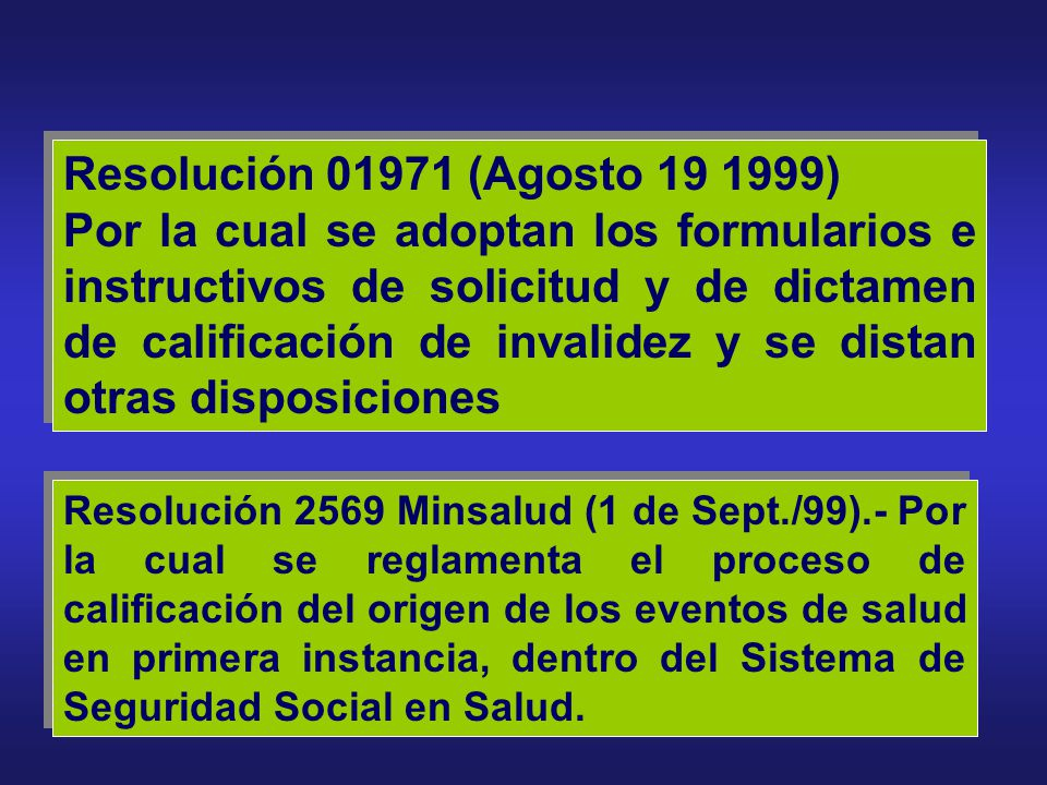Resolución 01971 (Agosto 19 1999)