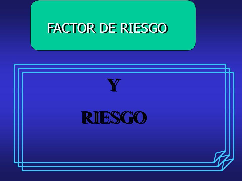 FACTOR DE RIESGO Y RIESGO
