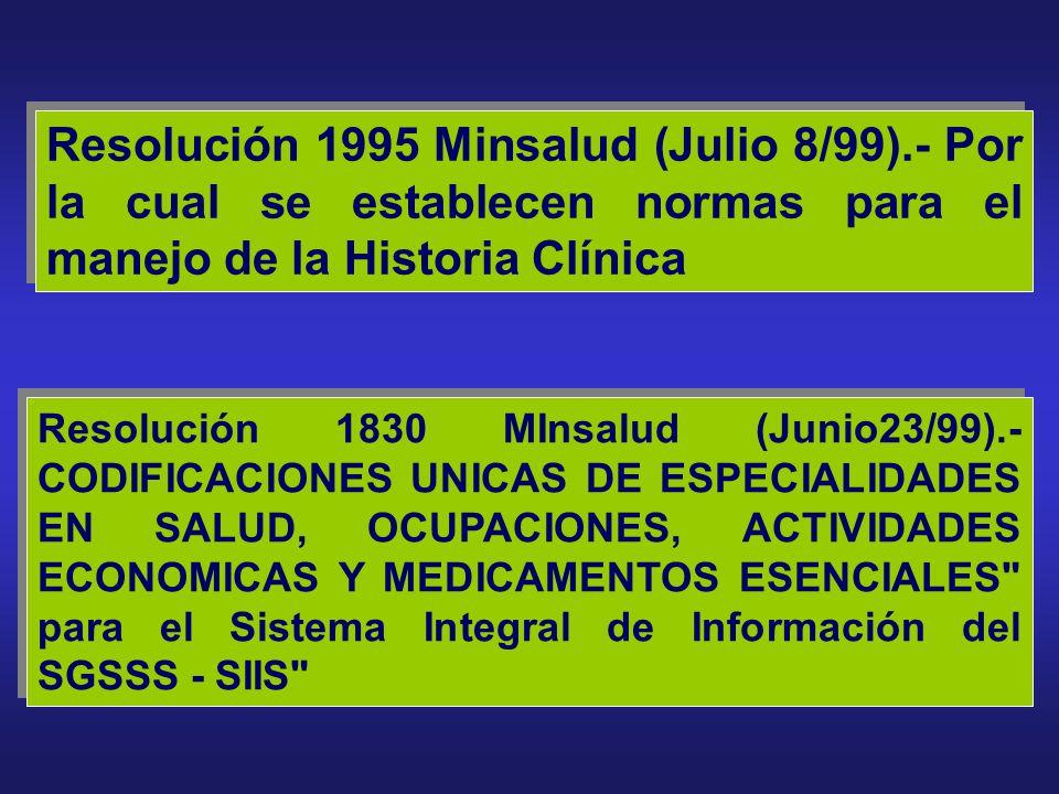 Resolución 1995 Minsalud (Julio 8/99)