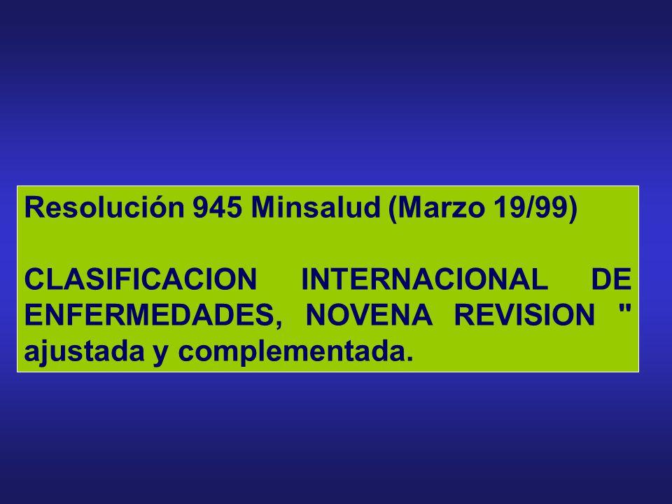 Resolución 945 Minsalud (Marzo 19/99)