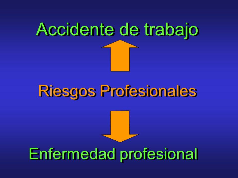 Accidente de trabajo Riesgos Profesionales Enfermedad profesional