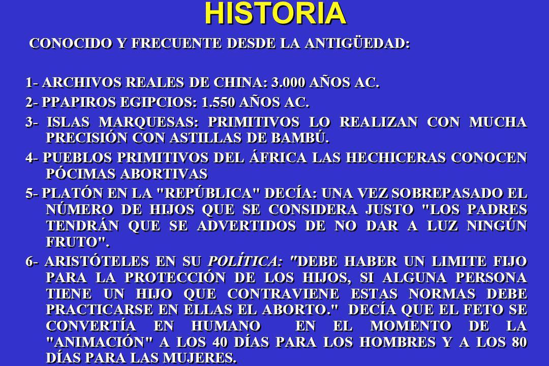 HISTORIA CONOCIDO Y FRECUENTE DESDE LA ANTIGÜEDAD:
