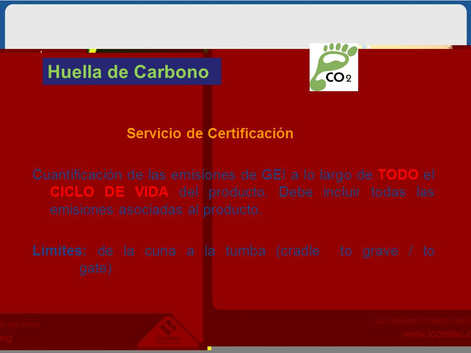 Huella de Carbono Servicio de Certificación